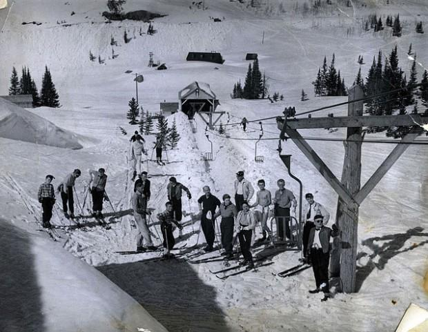 Alta's first chair lift