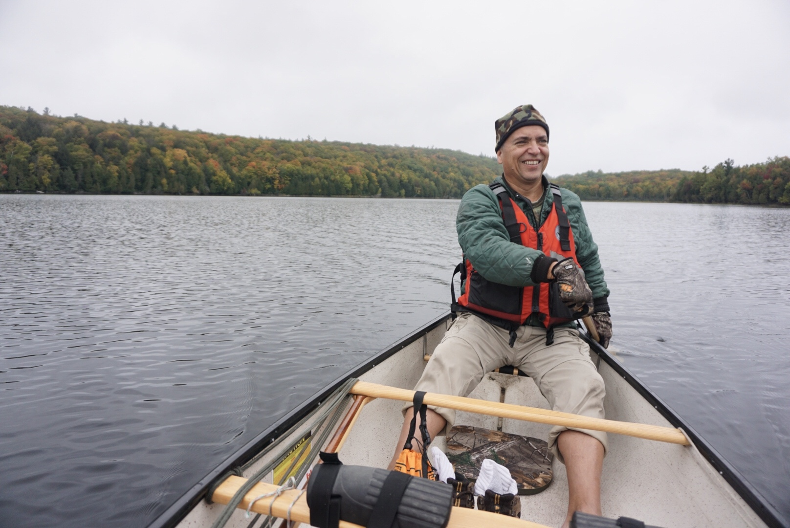 Hayley's Dad paddling