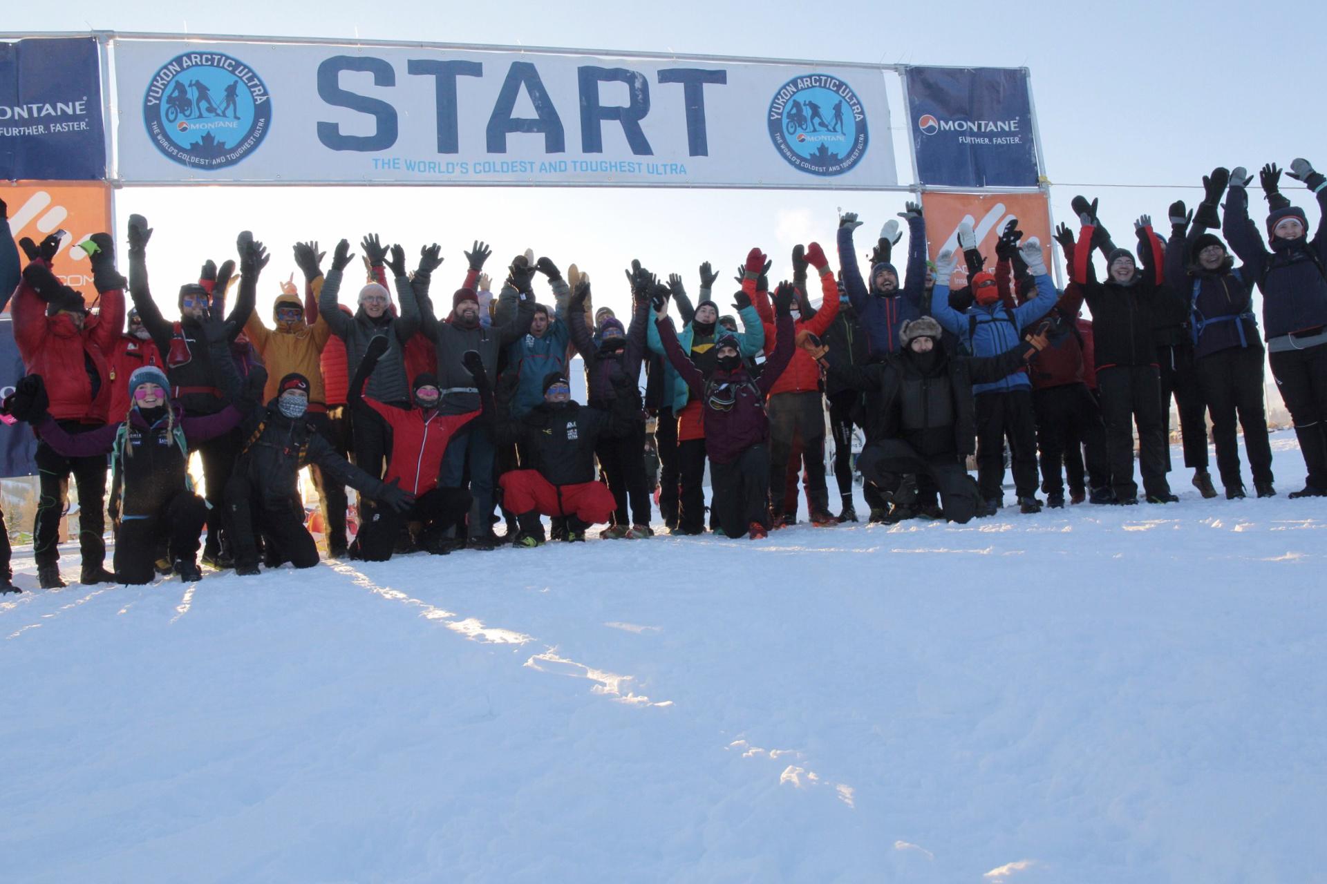 Montane Yukon Arctic Ultra start line