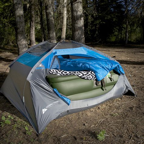 air bed in tent