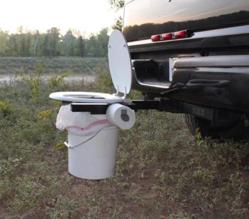 toilet on a hitch