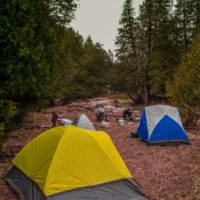 Camping near the bighead and beaver rivers to flyfish