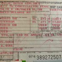 KLM plane ticket
