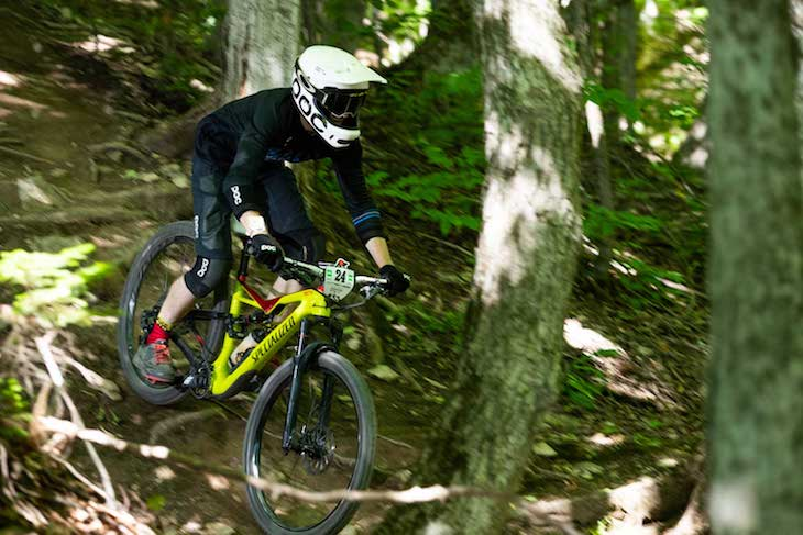 Alex Rose biking in Collingwood, Ontario