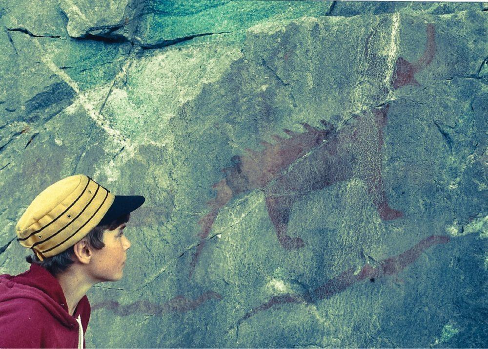 Aboriginal pictograph at Lake Superior Provincial Park