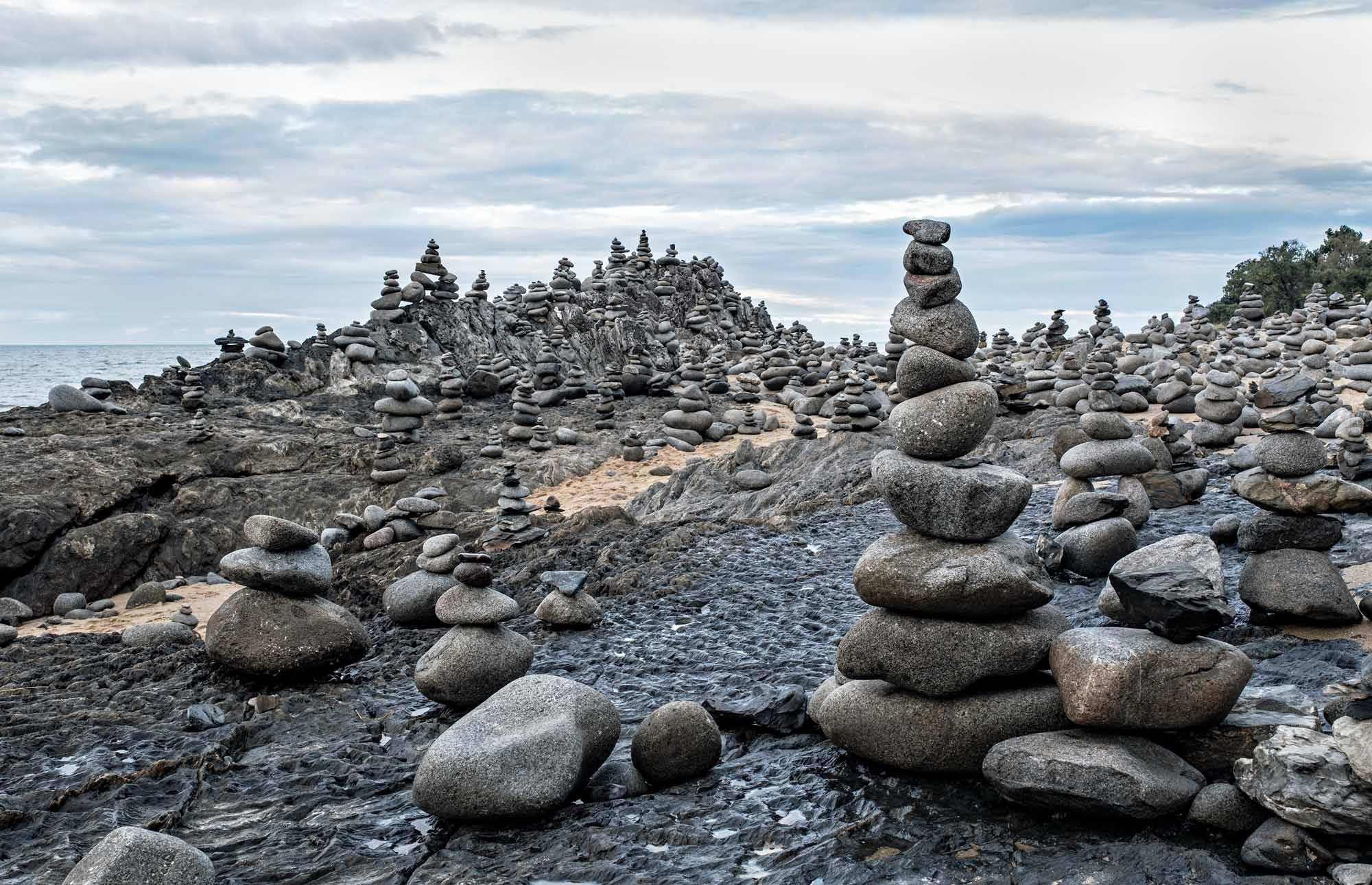 Rock stacks