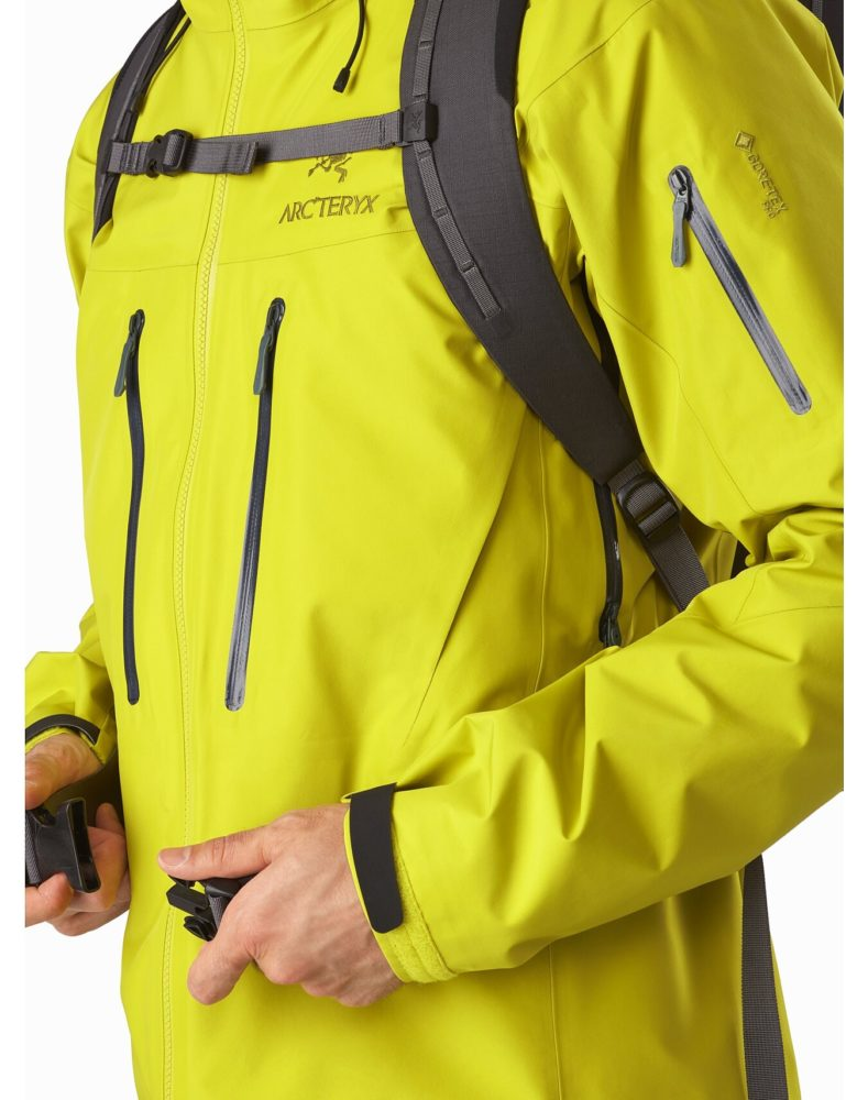 Arc'teryx Alpha SV jacket chest pocket detail review