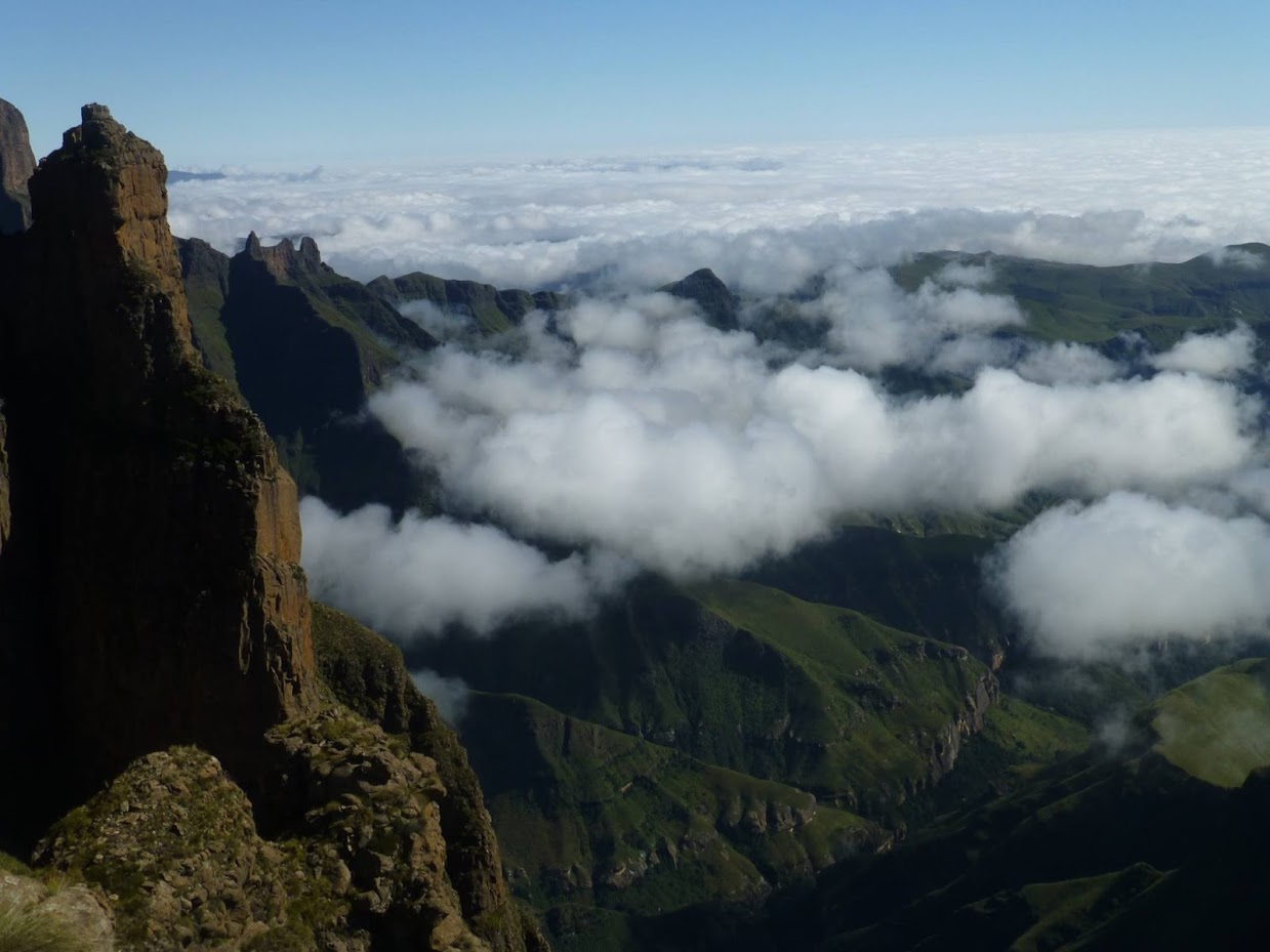 Lesotho Drakensberg Traverse clouds