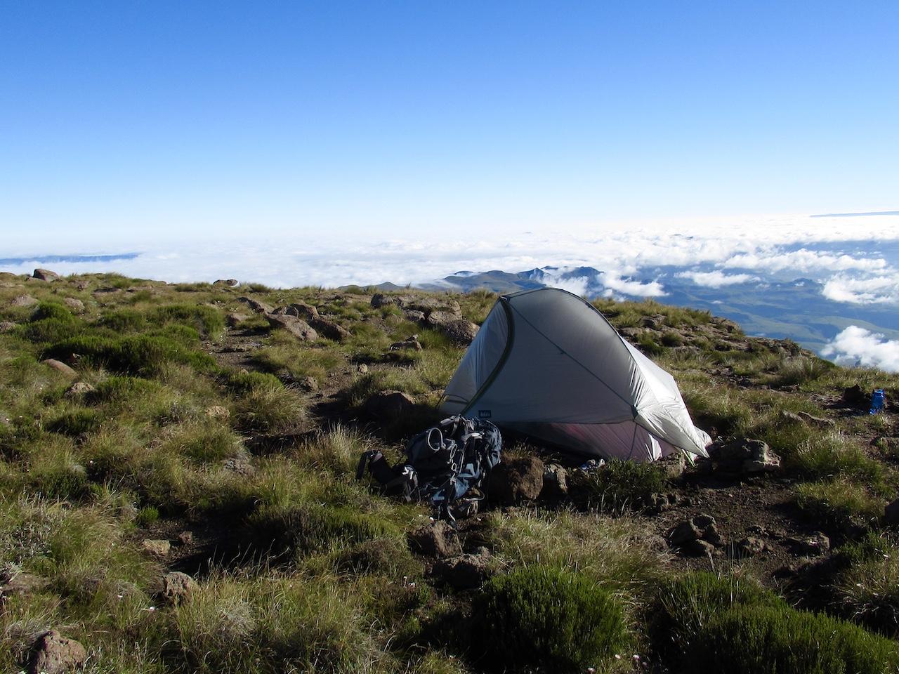 Lesotho Drakensberg Traverse Africa tent camping trekking