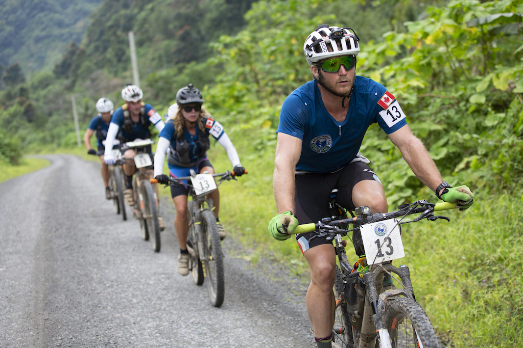 Team Canada Adventure from Canada (team members Bob Miller, Ryan Atkins, Scott Ford, Rea Kolbl and Wayne Leek) during the 2019 Eco-Challenge adventure race in Fiji on Thursday, September 12, 2019. (Christian Pondella/Amazon)