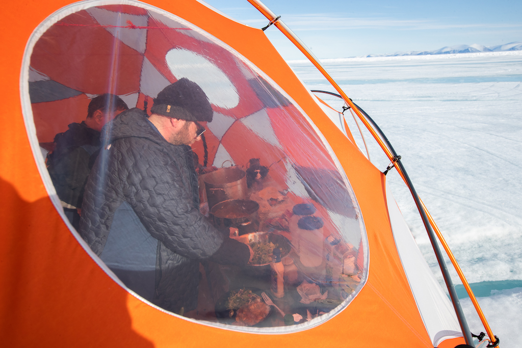 Floe-State-Camping-on-Nunavut-Ice-tent-Colin-Field