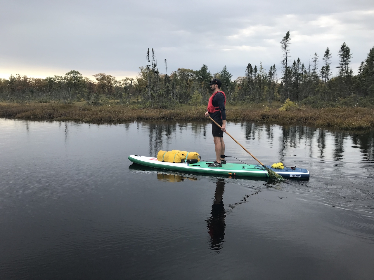Red-Paddle-Co-New-2021-Paddleboards-lake-cloudy-day