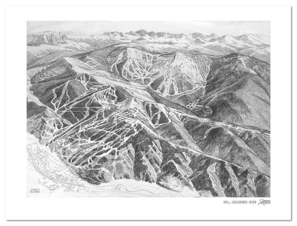 The-Rembrandt-of-Snow-Behind-Resort-Maps-James-Niehues-vail-sketch