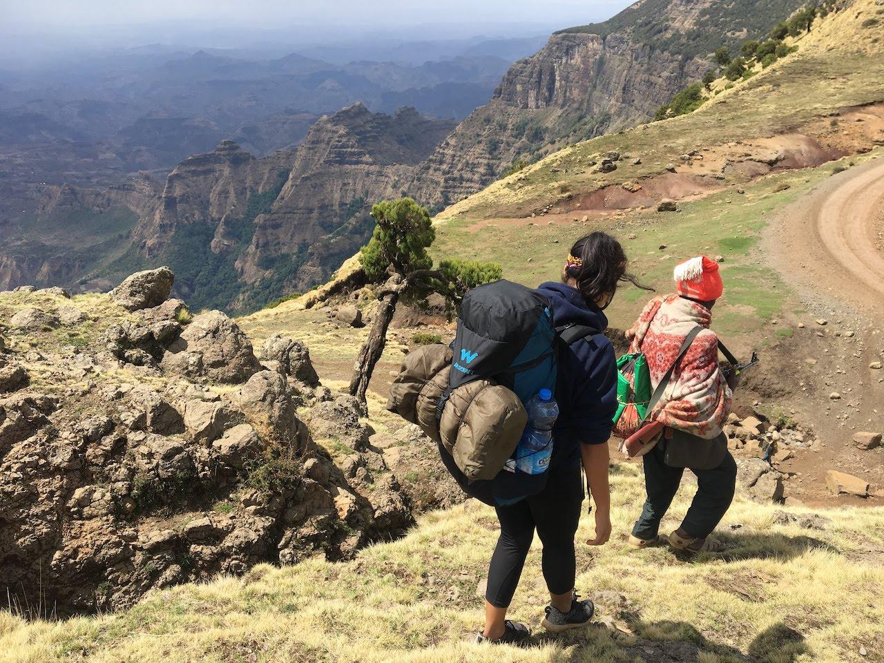 Trekking-Ethiopias-Simien-Mountains-Mafia-AK-47s-and-a-Park-at-Risk-mountain-track-descent