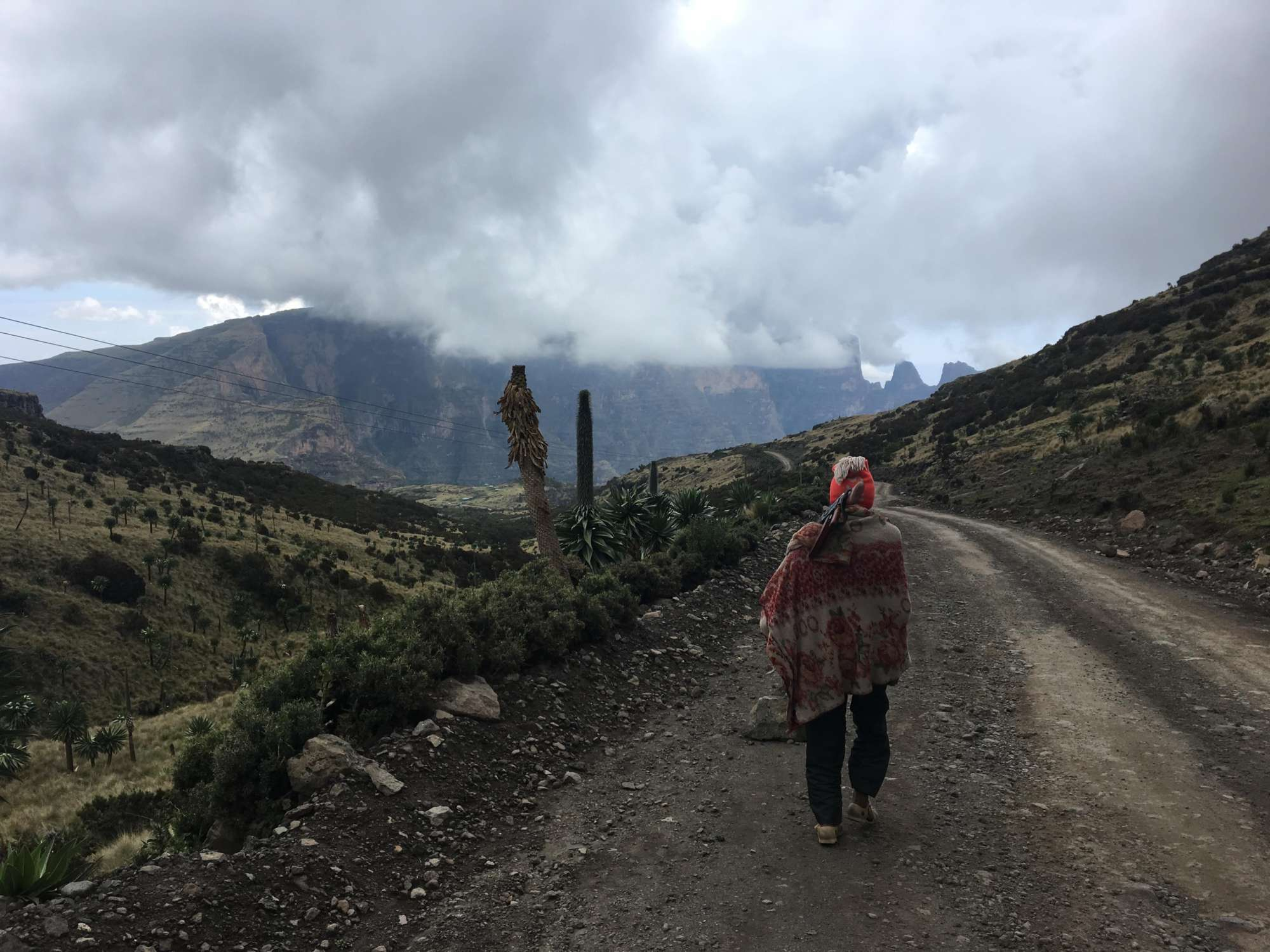 Trekking-Ethiopias-Simien-Mountains-Mafia-AK-47s-and-a-Park-at-Risk-scout-road-clouds