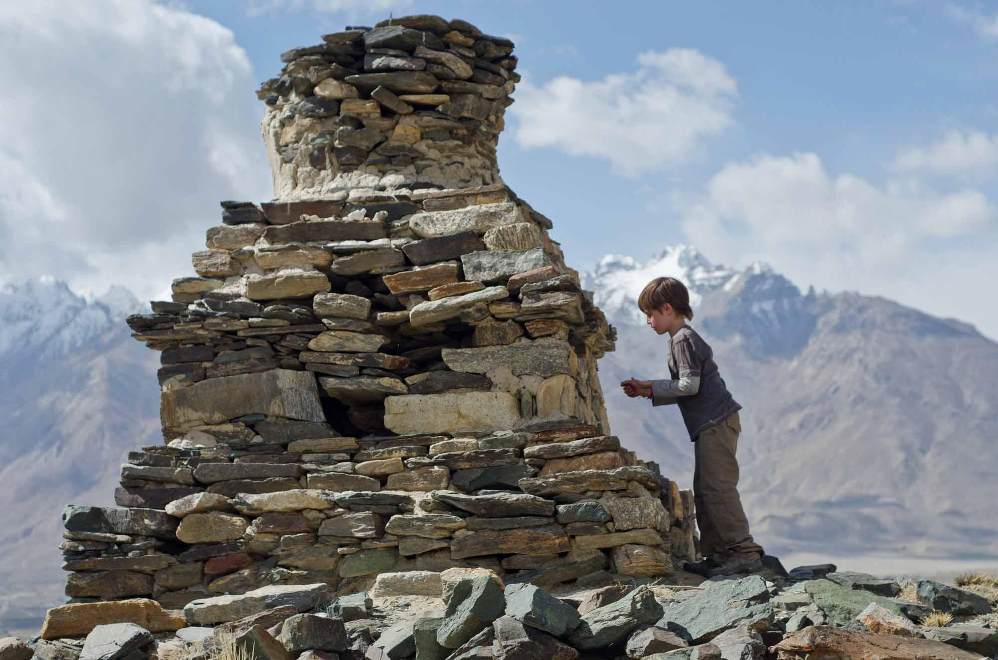 Blue-Sky-Kingdom-Family-Vacation-to-a-Buddhist-Monastery-KarshaGompa-Bruce-Kirkby-rock-stack