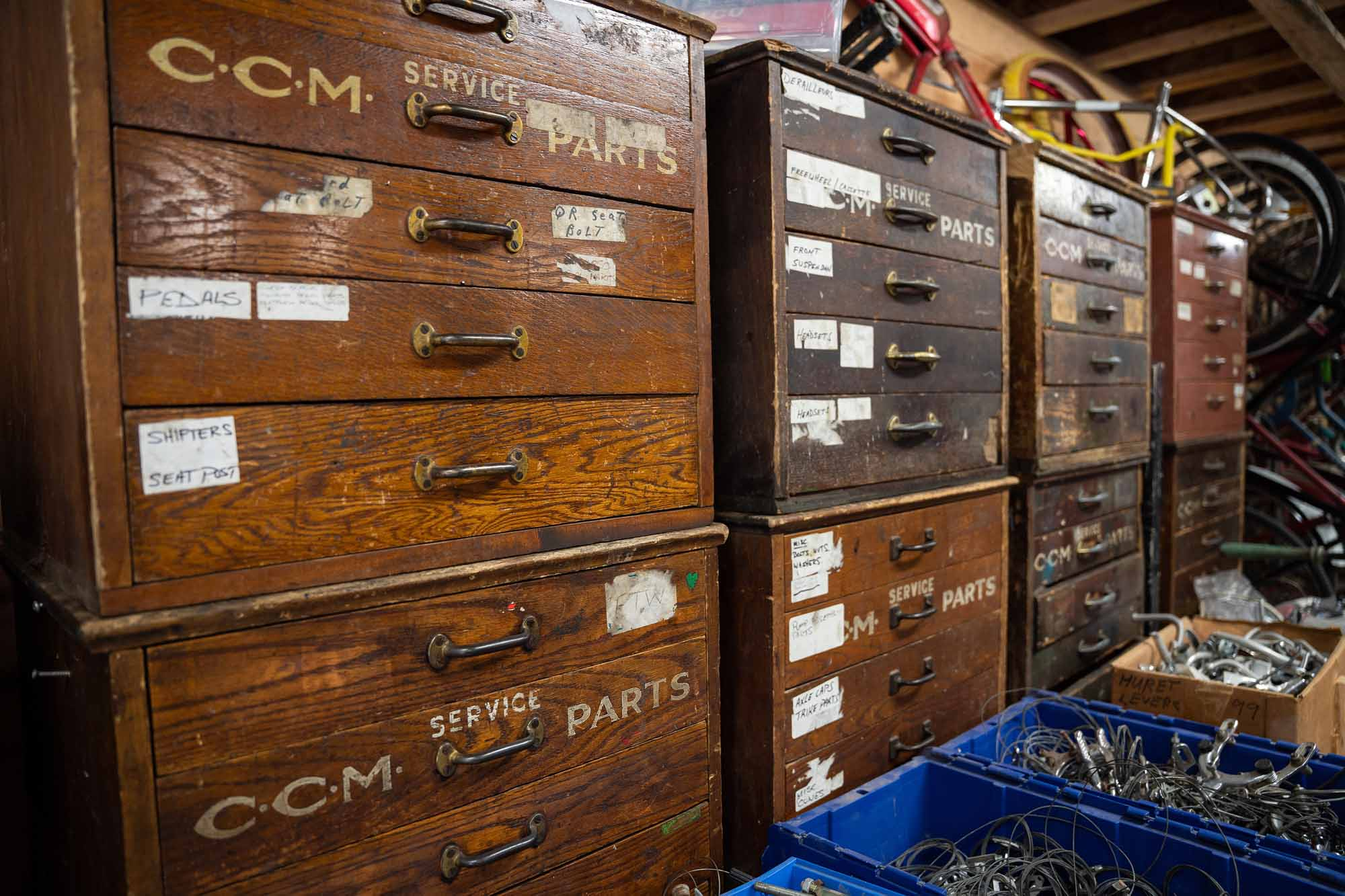 The-King-of-Bikes-The-Story-of-an-Obsession-CCM-cabinets-Colin-Field-photo