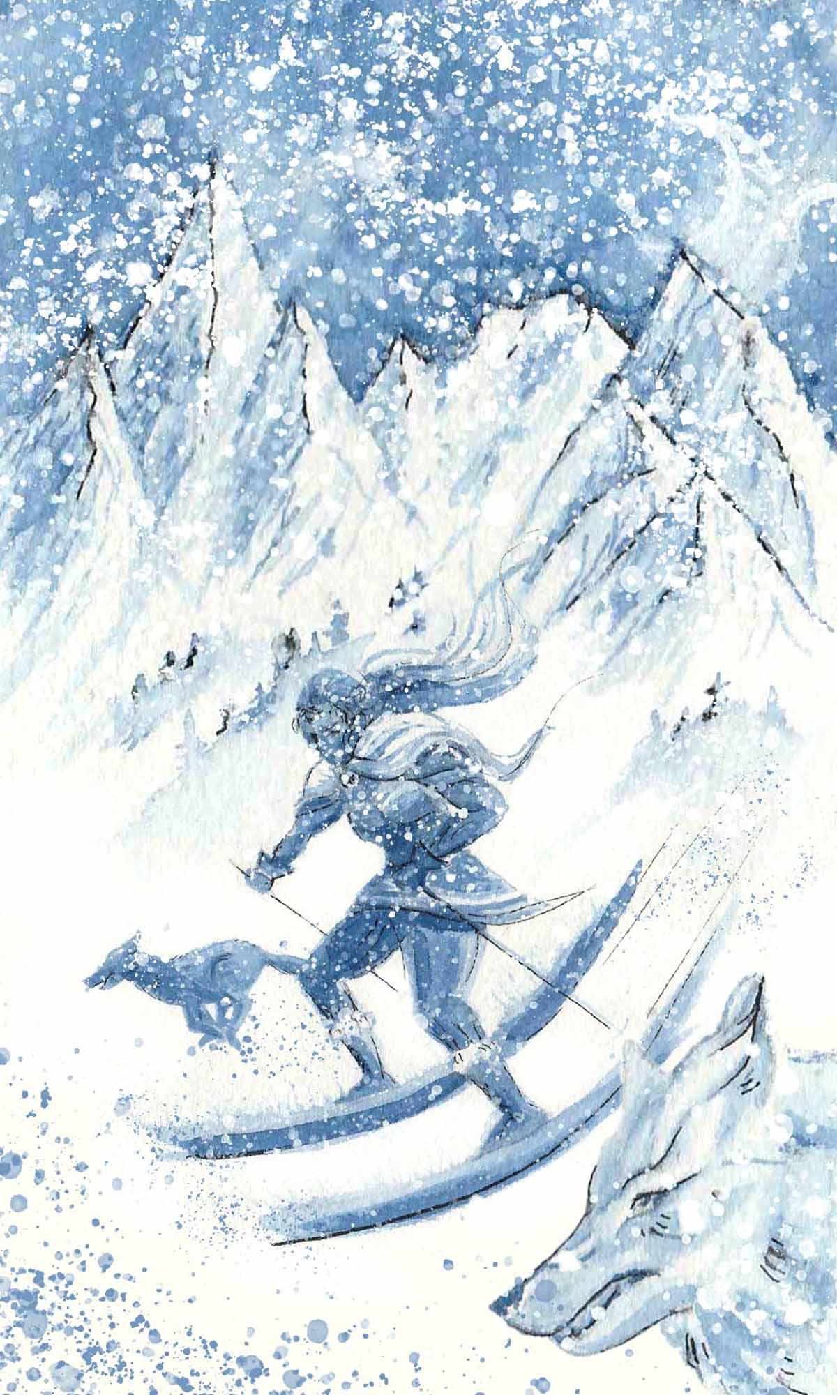 The-Long-Lost-Ski-Goddess-Nikkey-Dawn-illustration