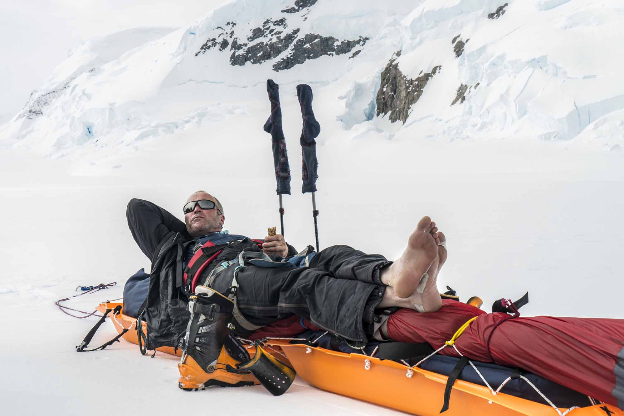 Polar-Quest-Exploration-Polaire-Exploring-Boundaries-in-Antarctica-Caroline-Cote-photo-Phil-Wickens-enjoys-the-view