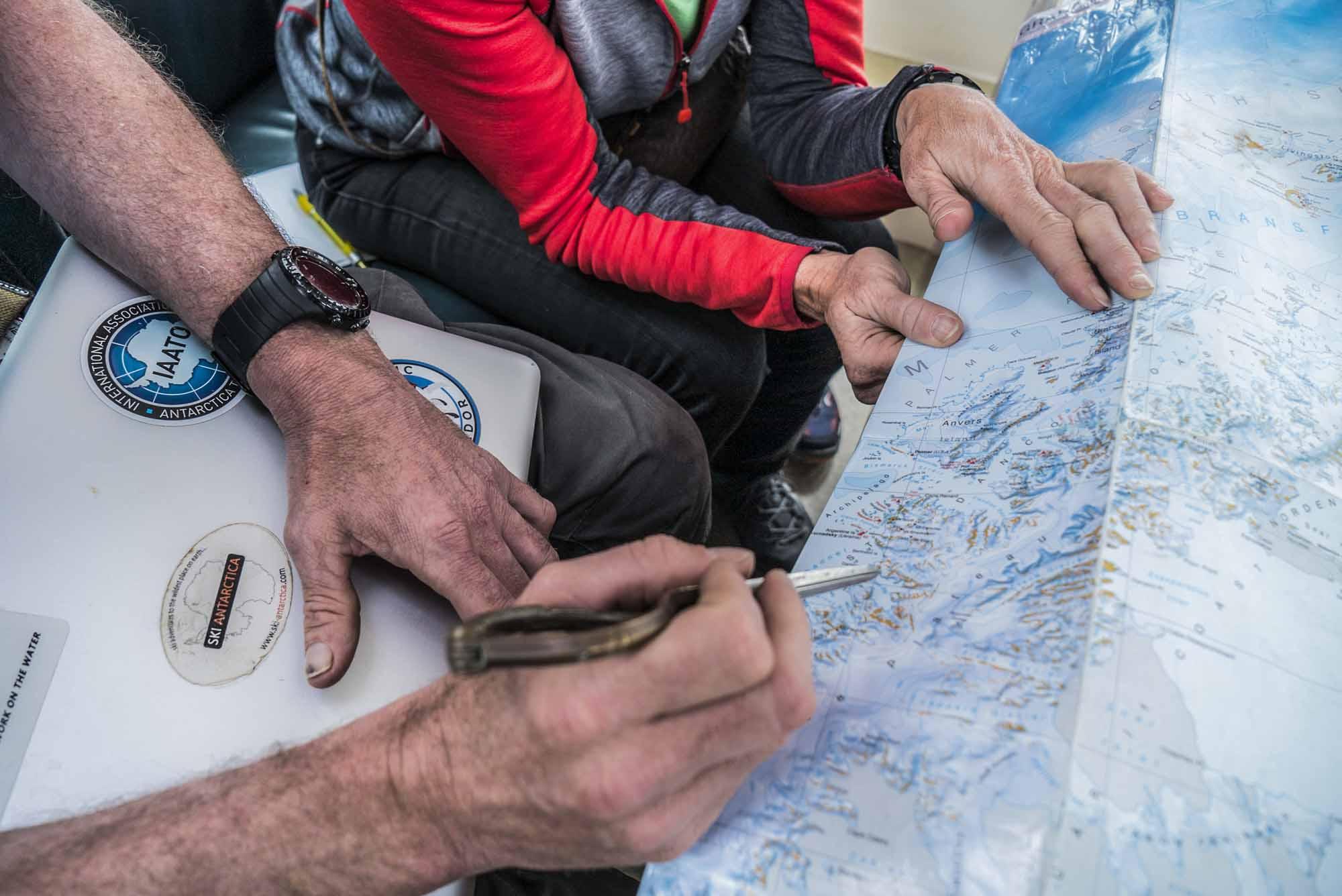 Polar-Quest-Exploration-Polaire-Exploring-Boundaries-in-Antarctica-Caroline-Cote-photo-map-hands