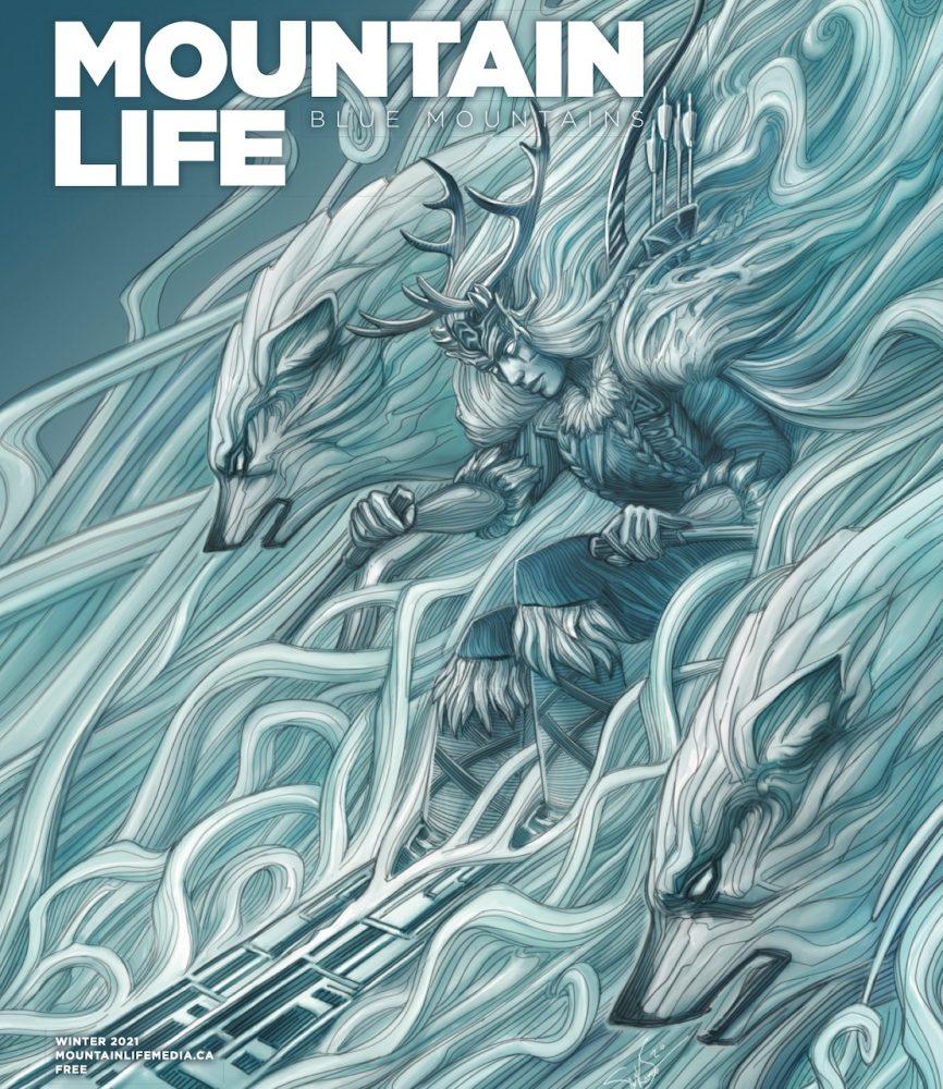 Mountain-Life-Blue-Mountains-winter-21-cover-Skadi-illustration-by-Stu-MacKay-Smith