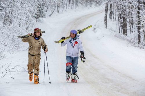 Paul-Bride-Q-and-A-skiers-walking-Quebec