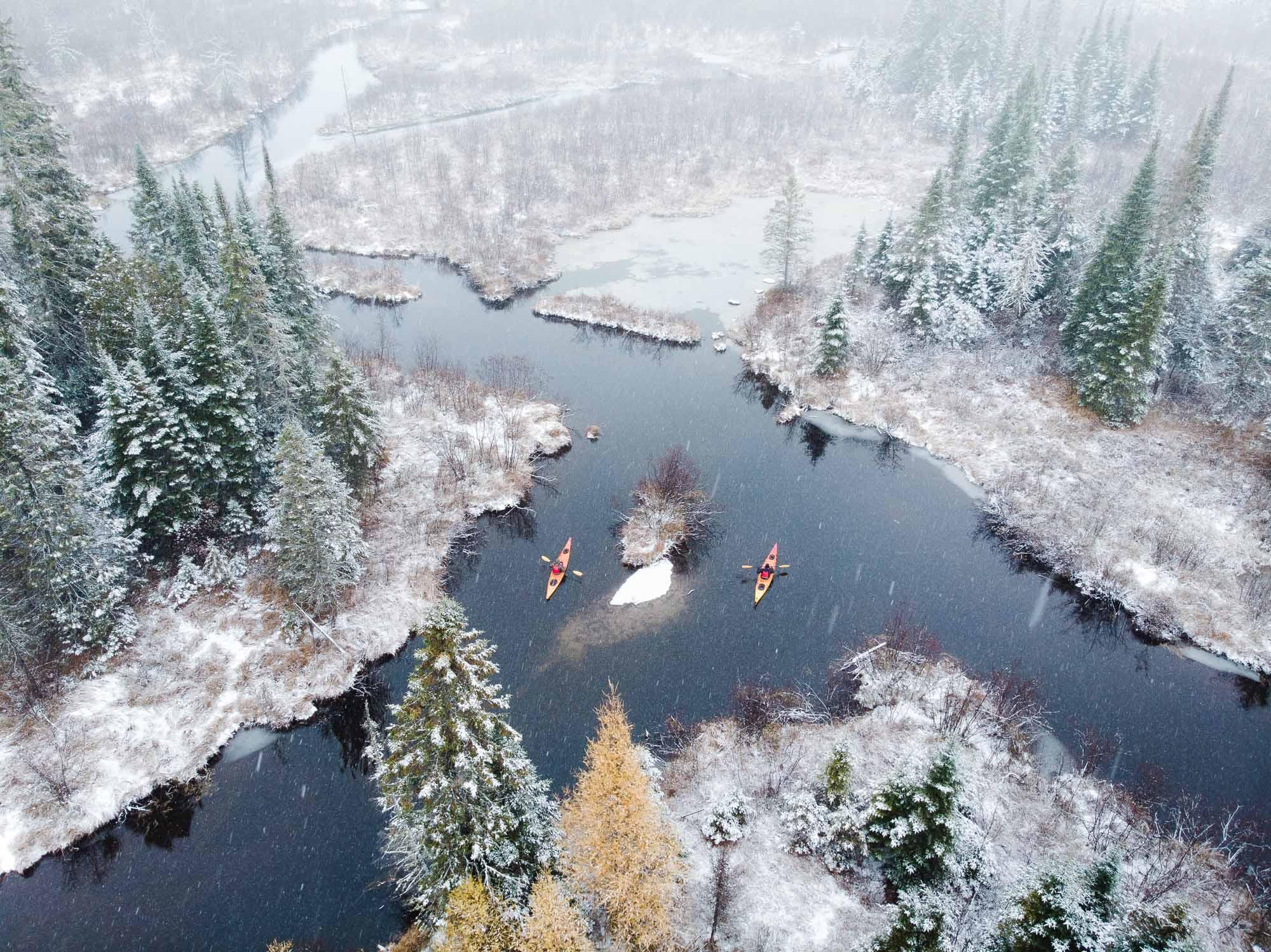 Quebec-Winter-showcase-kayakers-Lake-Stukely-photo-by-NICHOLAS-SPOONER