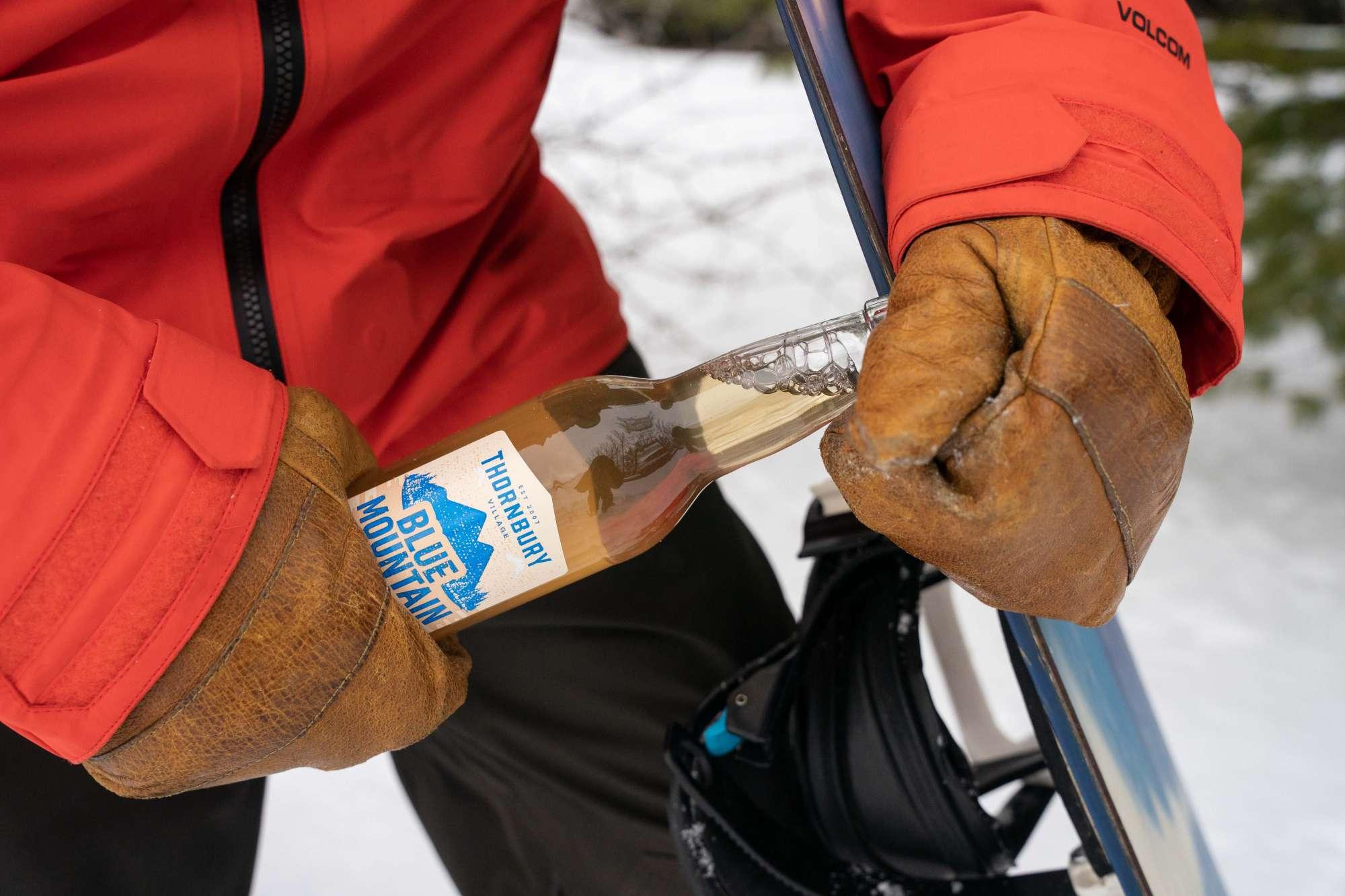 Snowboard beer opener