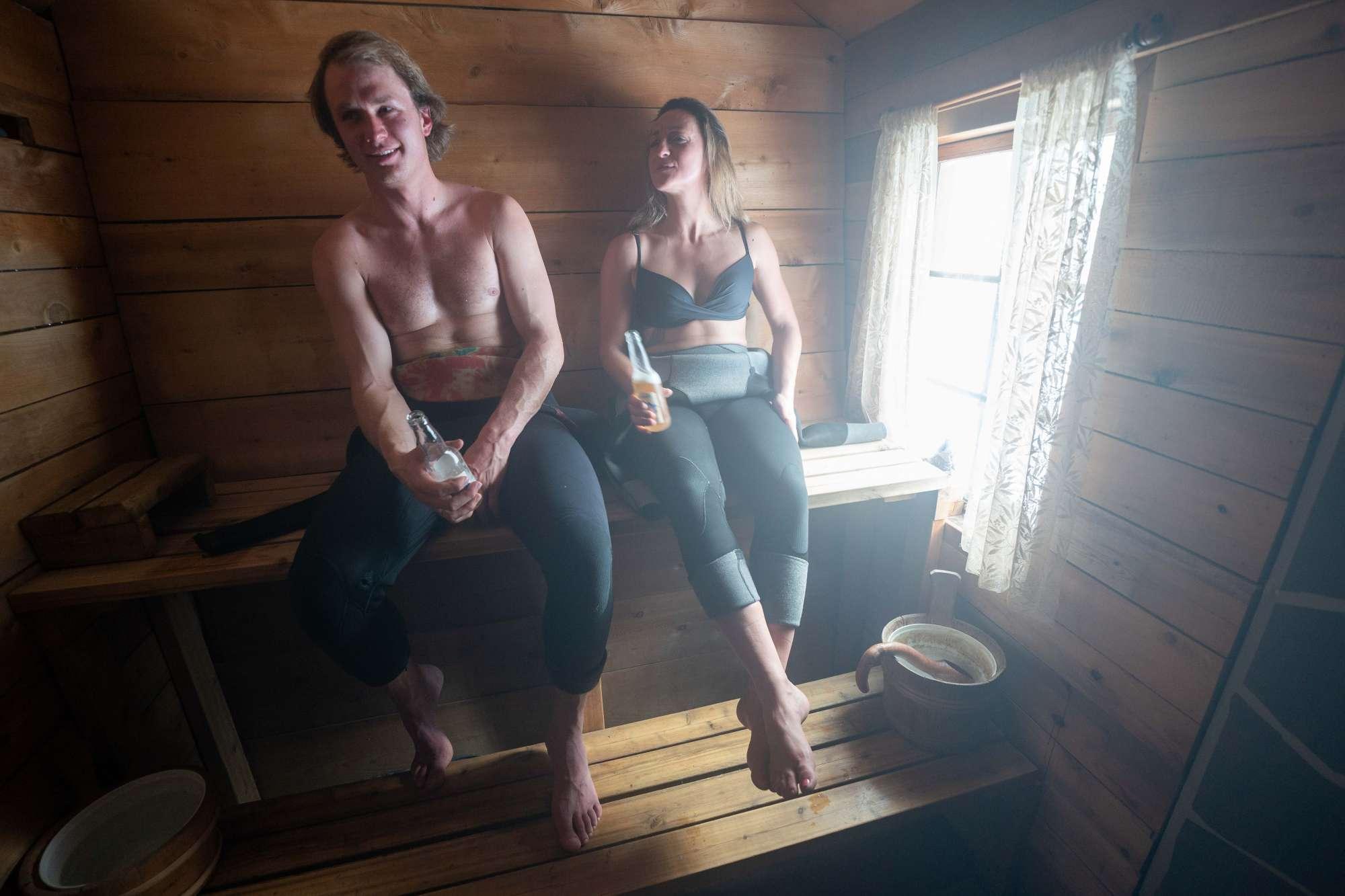 Sauna and surf