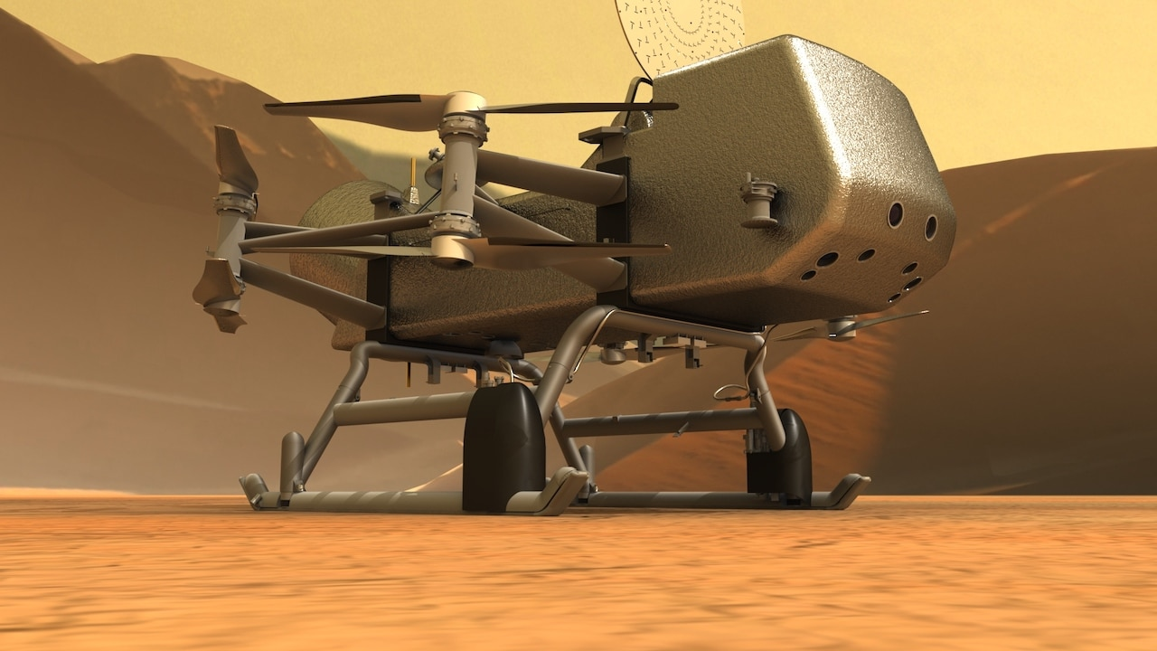 NASA-dragonfly-drone-illustration-on-surface