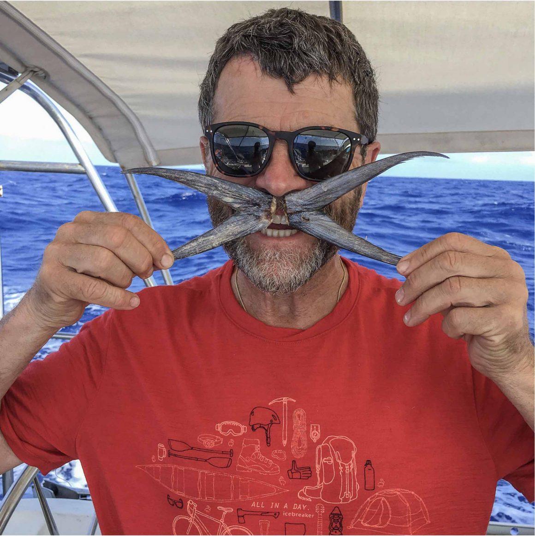 Atlantic Family Odyssey, starfish, orange shirt, sunglasses, sailing trip, ocean
