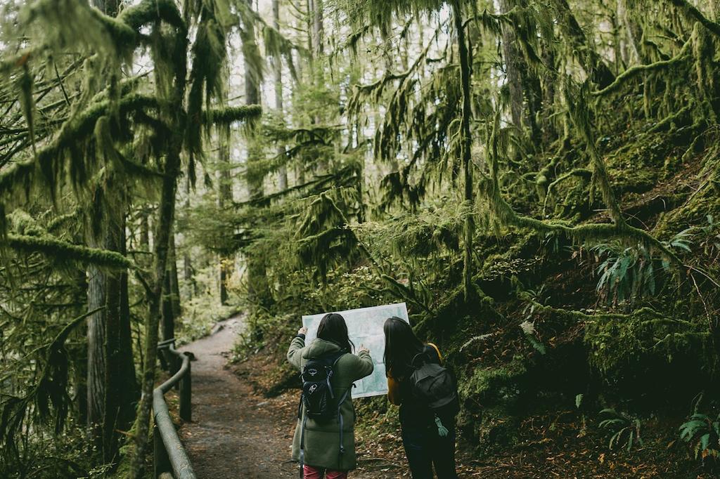 Indigenous-women-outdoors-Rachel-Barkman-reading-map